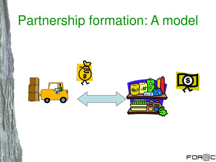 Partnership formation: A model
