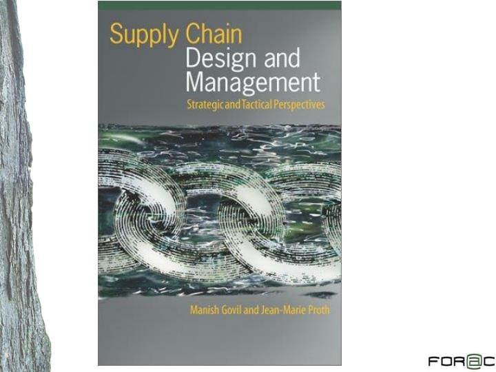 Supply chain and logistic optimization