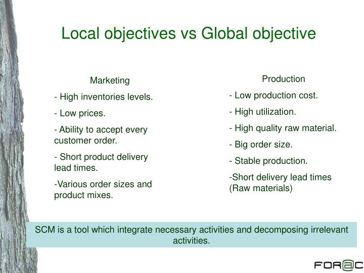 Local objectives vs Global objective
