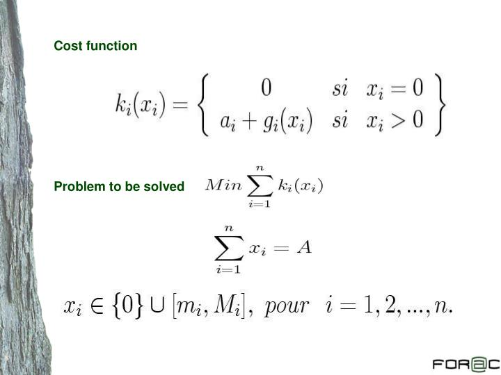 Cost function