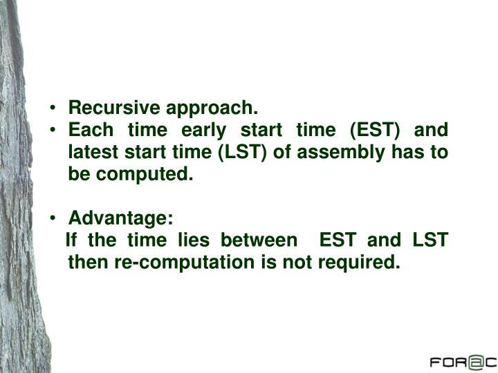 Recursive approach.