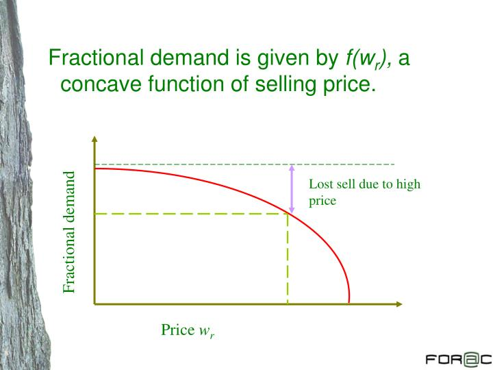 Fractional demand is given by
