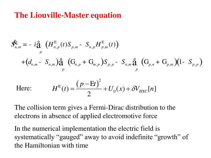 The Liouville-Master equation
