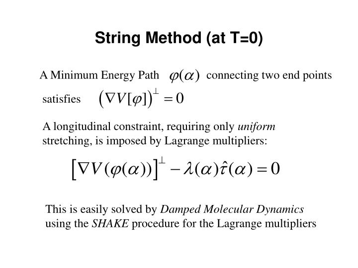 String method at t 0