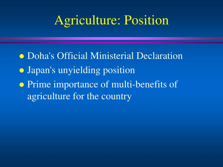 Agriculture position