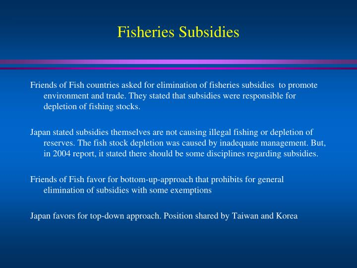 Fisheries Subsidies