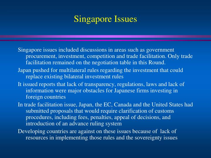 Singapore Issues