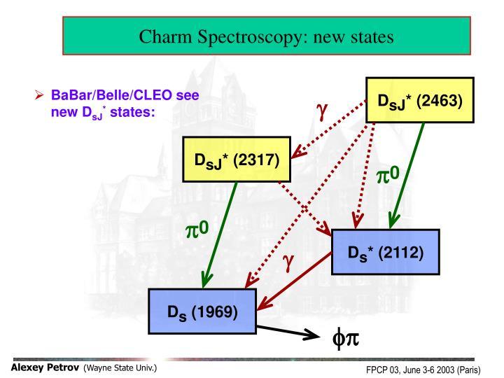 Charm Spectroscopy: new states