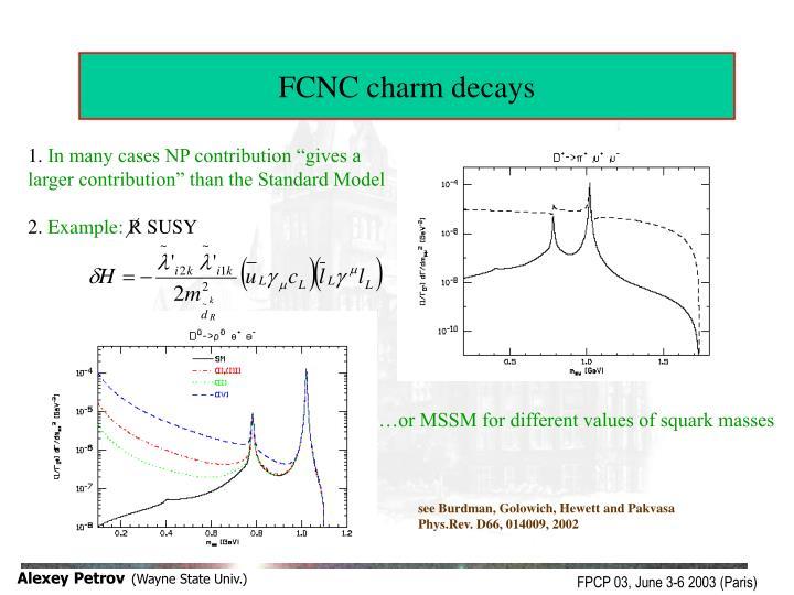 FCNC charm decays