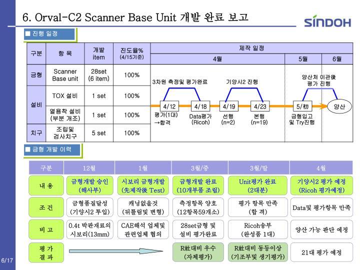 6. Orval-C2 Scanner Base Unit