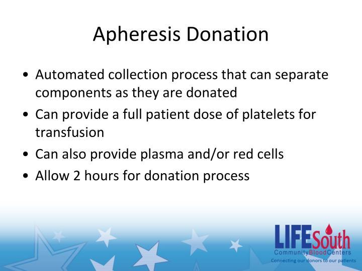 Apheresis Donation