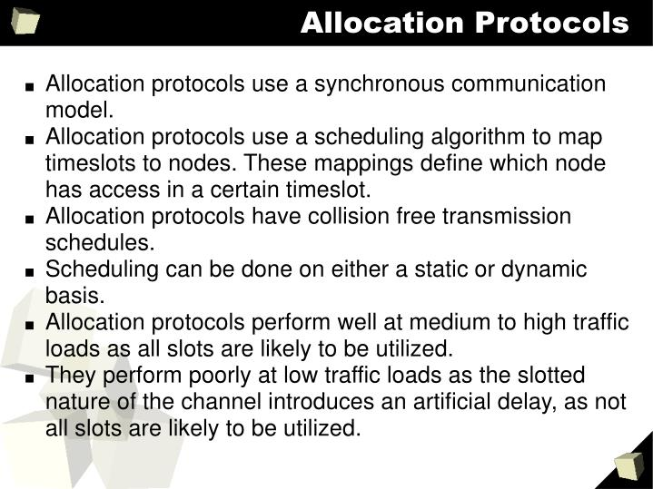 Allocation Protocols