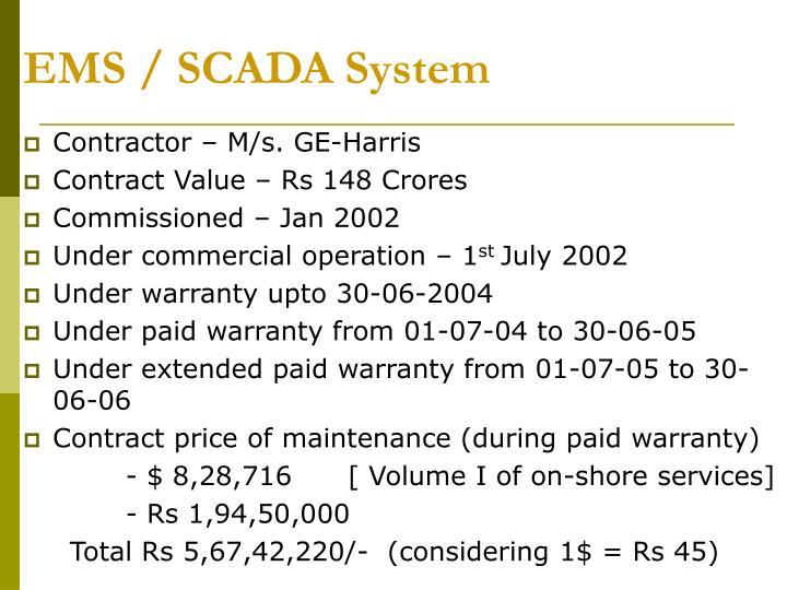 EMS / SCADA System