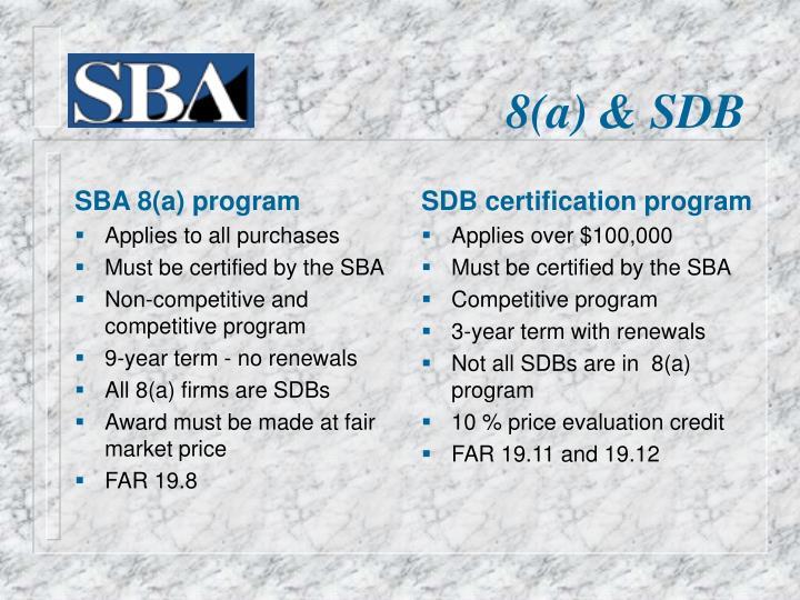 SBA 8(a) program