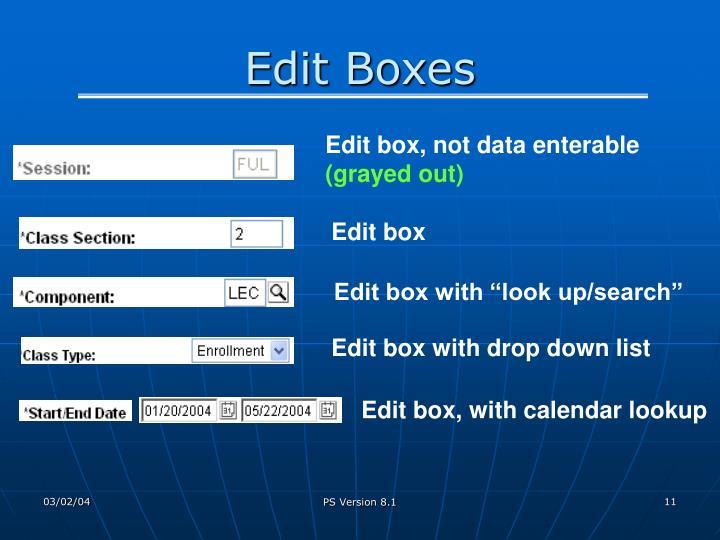 Edit Boxes