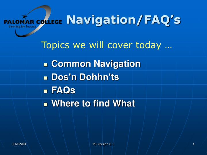 Common Navigation