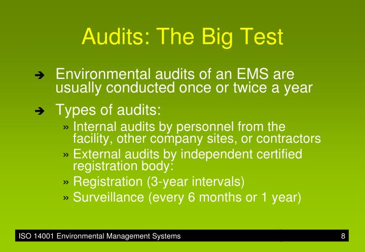 Audits: The Big Test
