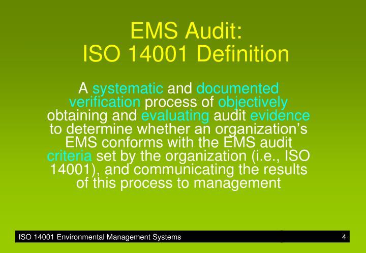 EMS Audit: