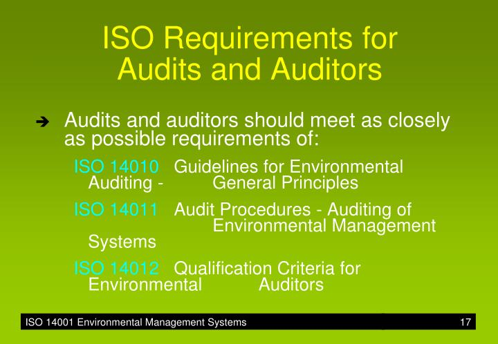 ISO Requirements for