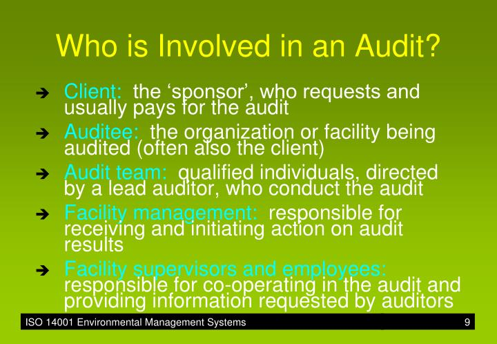 Who is Involved in an Audit?