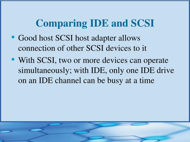Comparing IDE and SCSI