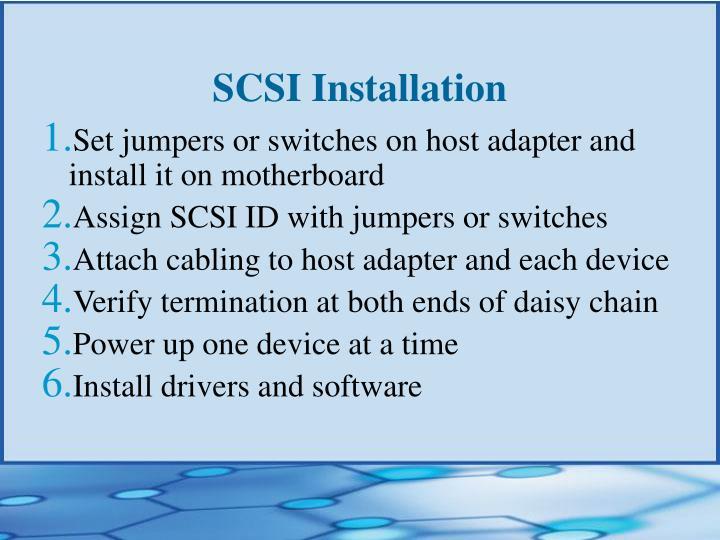 SCSI Installation