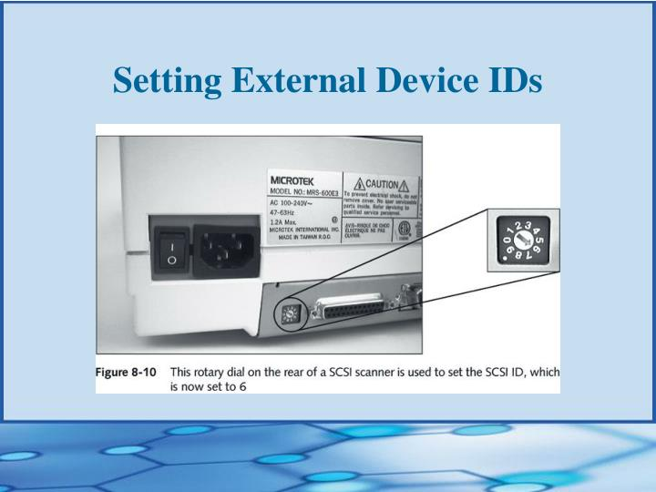 Setting External Device IDs