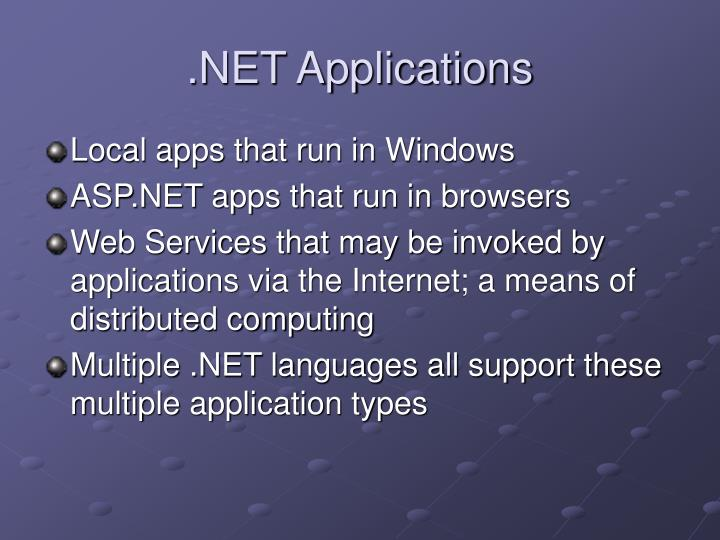 .NET Applications