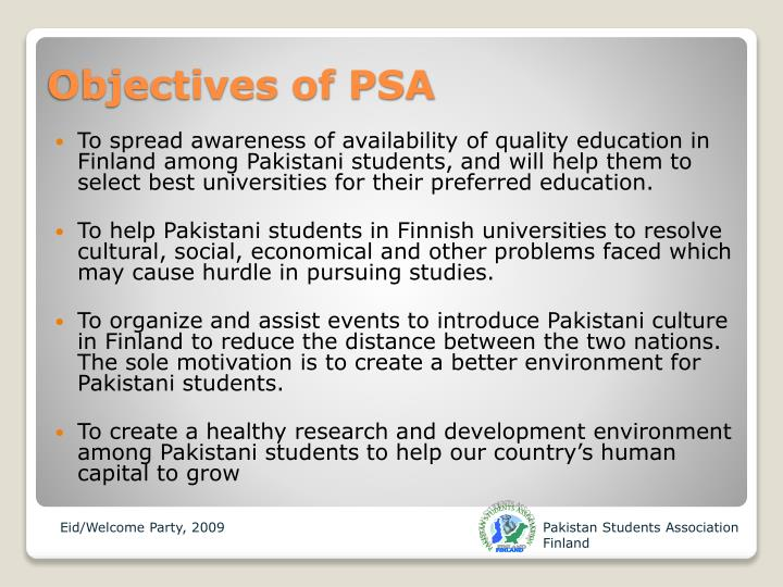 PAKISTAN STUDENTS ASSOCIATION