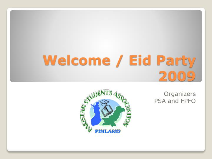 Welcome eid party 2009