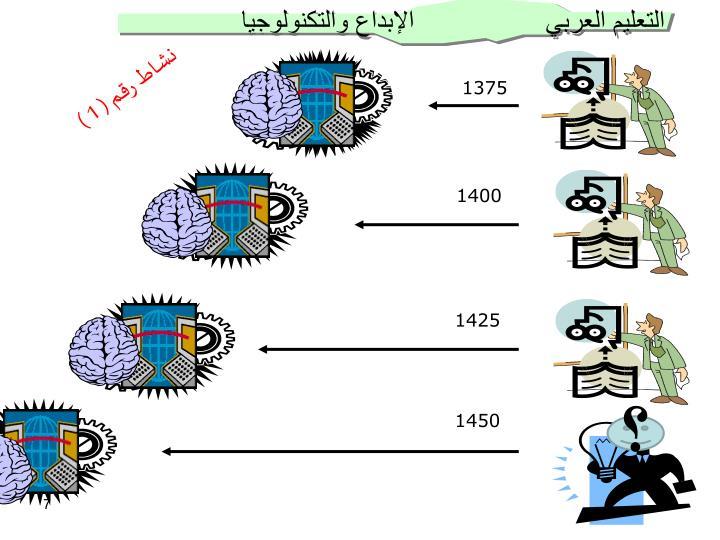 التعليم العربي                 الإبداع والتكنولوجيا