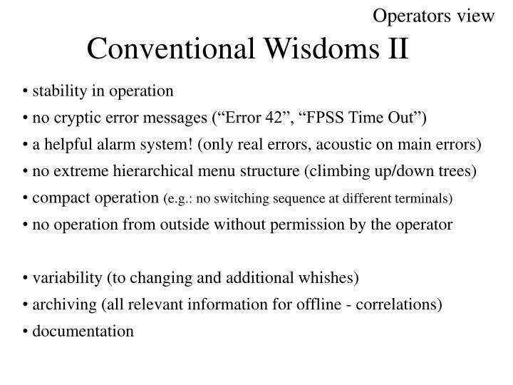 Operators view