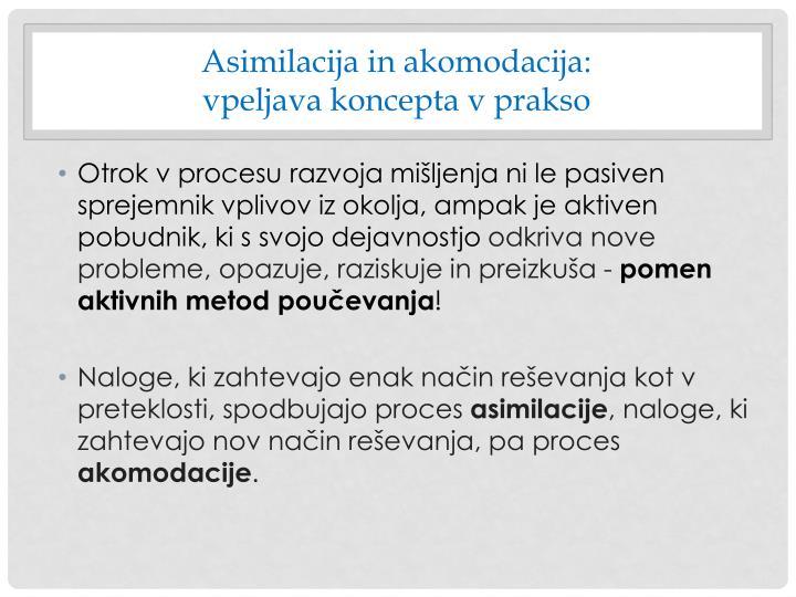 Asimilacija in akomodacija:
