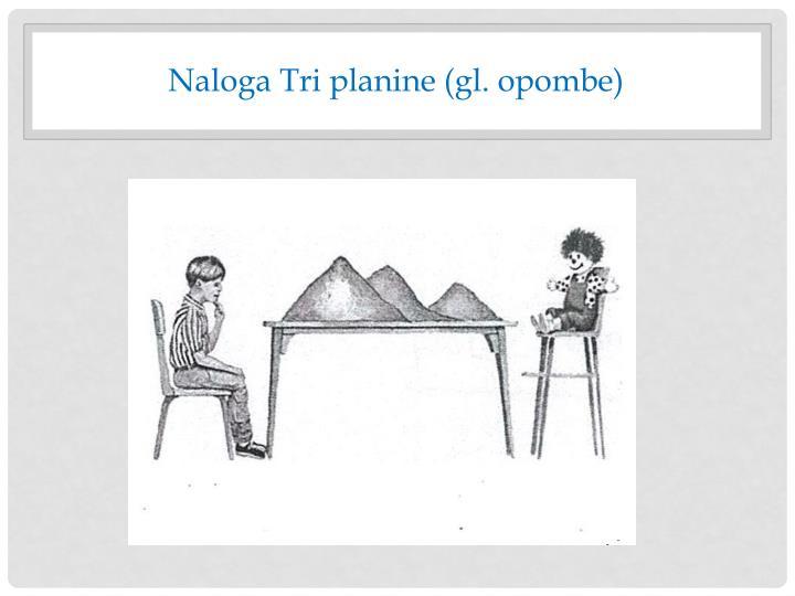 Naloga Tri planine (gl. opombe)