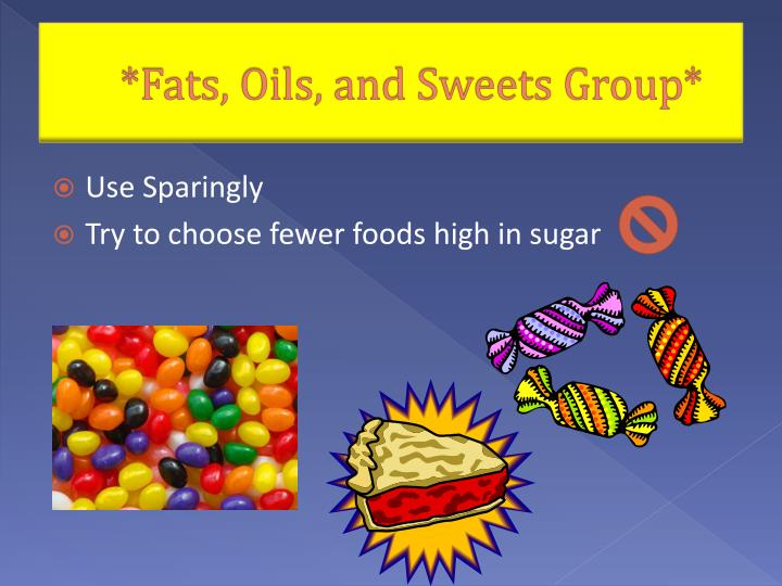 Fats oils and sweets group