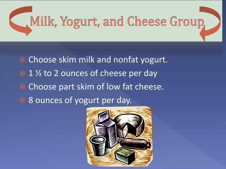 Milk, Yogurt, and Cheese Group