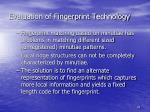 evaluation of fingerprint technology2