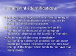 fingerprint identifications