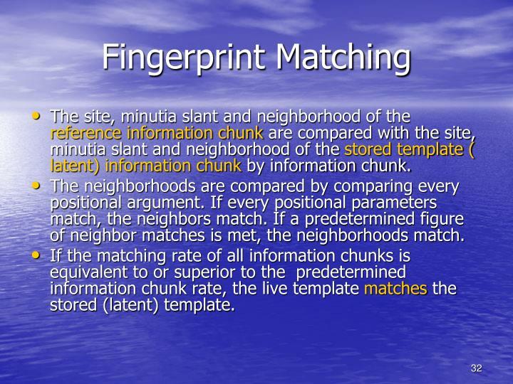 Fingerprint Matching