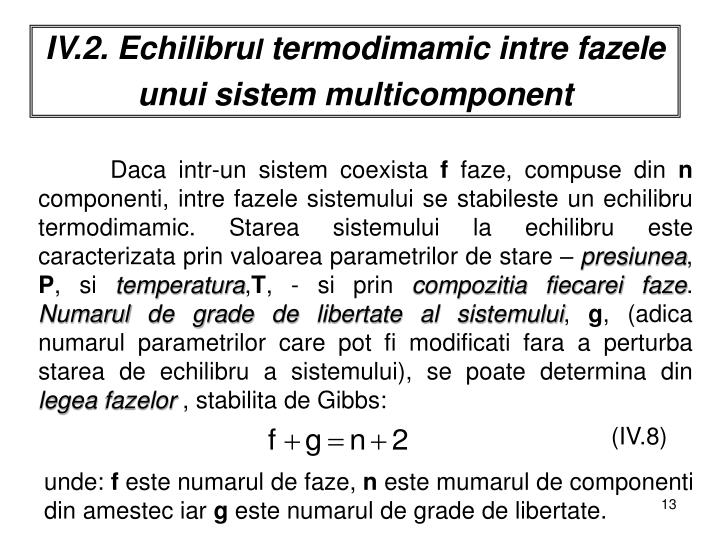 IV.2. Echilibru