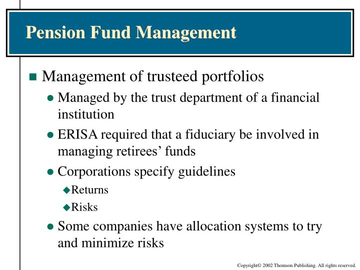 Pension Fund Management