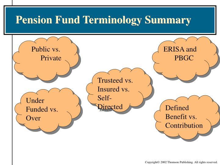 Pension Fund Terminology Summary