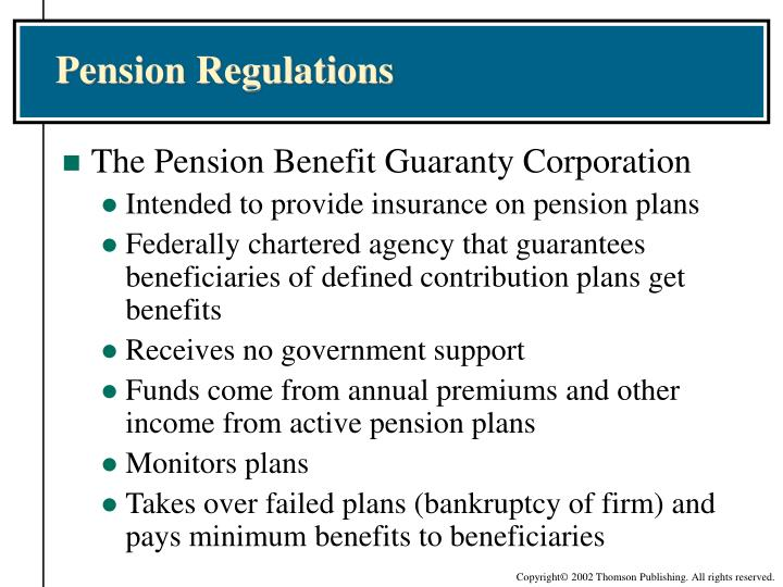 Pension Regulations