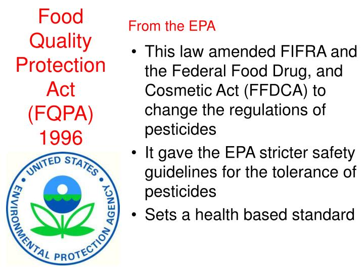 Food Quality Protection Act