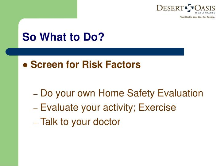 Screen for Risk Factors
