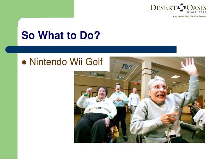 Nintendo Wii Golf