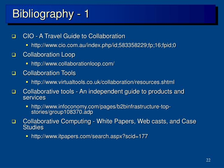 Bibliography - 1