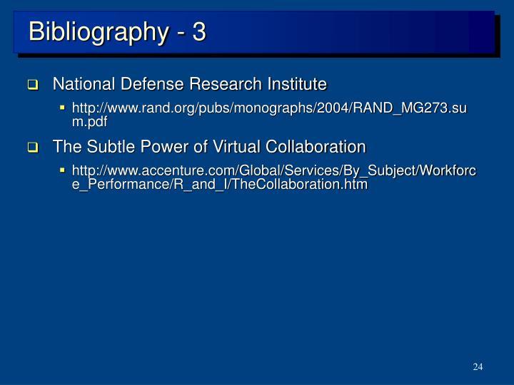 Bibliography - 3