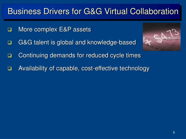 Business Drivers for G&G Virtual Collaboration