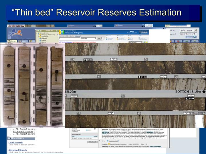 """Thin bed"" Reservoir Reserves Estimation"